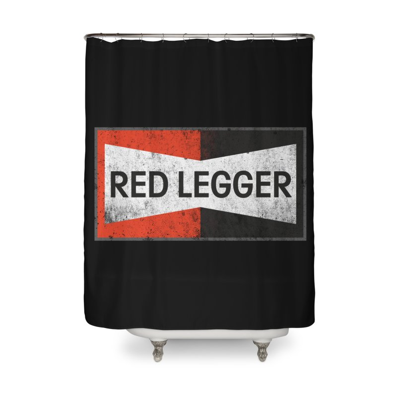 Red Legger Champion Home Shower Curtain by redleggerstudio's Shop