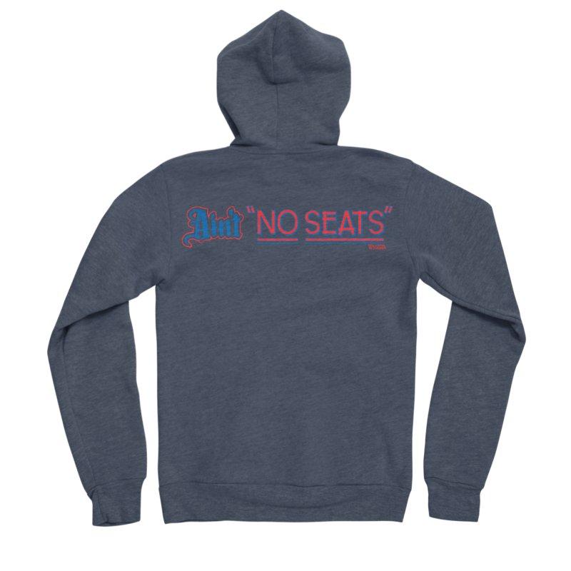 AIN'T NO SEATS 1 Men's Sponge Fleece Zip-Up Hoody by redleggerstudio's Shop