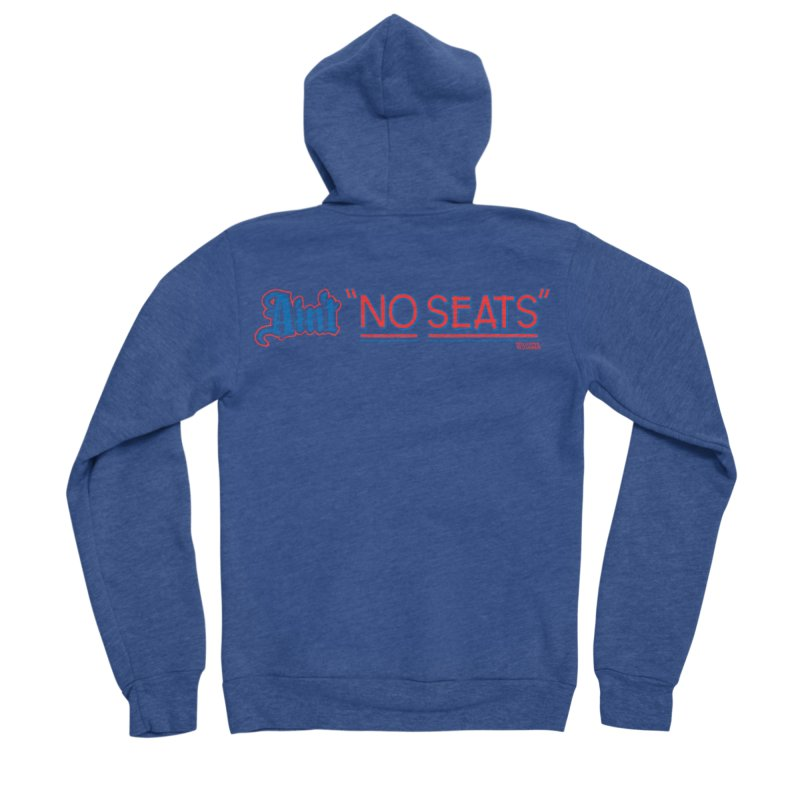 AIN'T NO SEATS 1 Men's Sponge Fleece Zip-Up Hoody by redleggerstudio's Shop