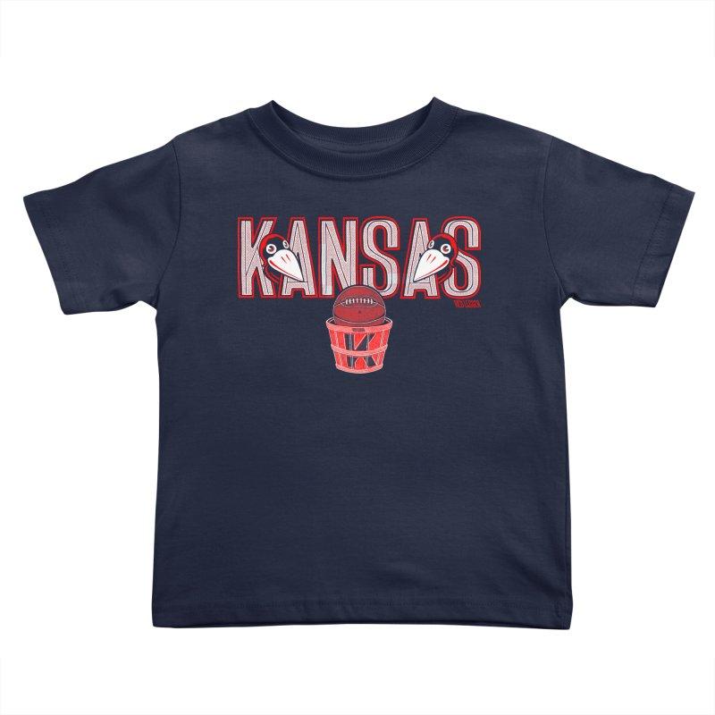 Peach Basket Birdies Kids Toddler T-Shirt by redleggerstudio's Shop