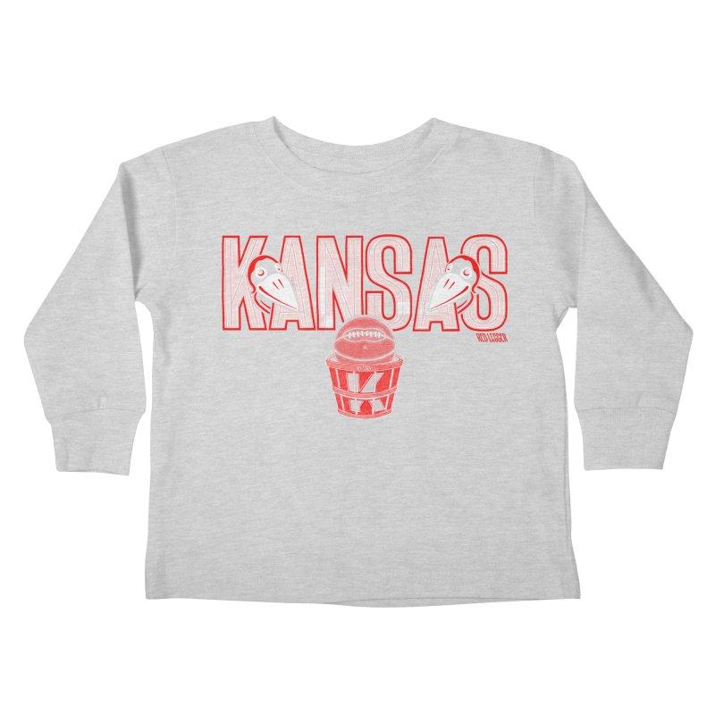Peach Basket Birdies Kids Toddler Longsleeve T-Shirt by redleggerstudio's Shop