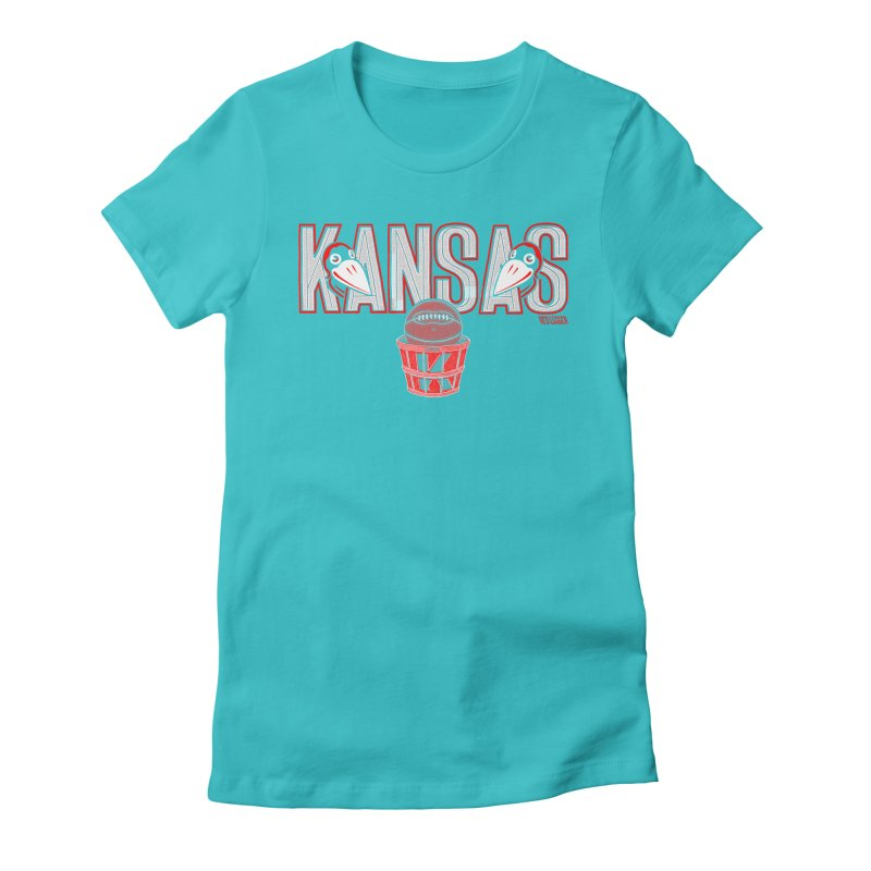 Peach Basket Birdies Women's Fitted T-Shirt by redleggerstudio's Shop