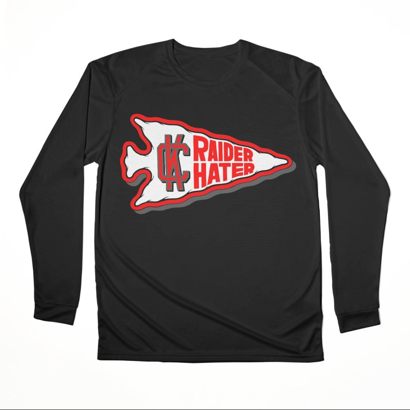 Raider Hater No. 1 Women's Performance Unisex Longsleeve T-Shirt by redleggerstudio's Shop