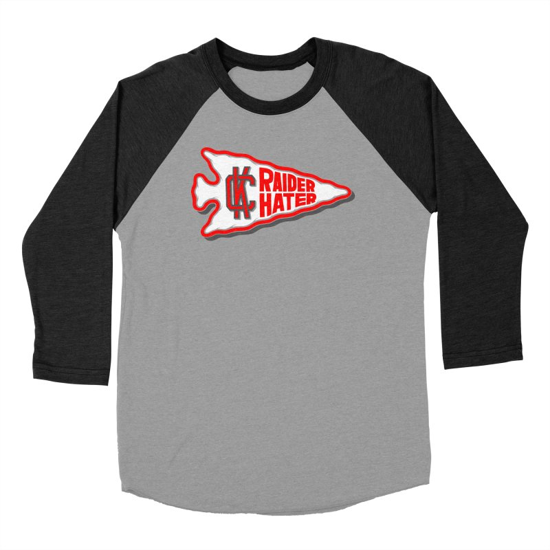 Raider Hater No. 1 Men's Baseball Triblend Longsleeve T-Shirt by redleggerstudio's Shop