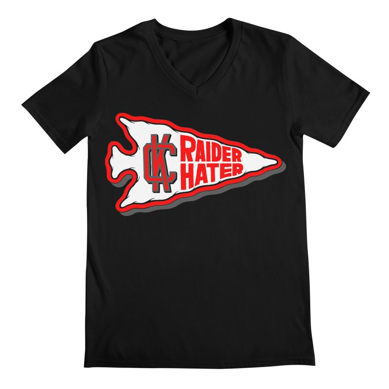 Raider Hater No. 1 Men's Regular V-Neck by redleggerstudio's Shop