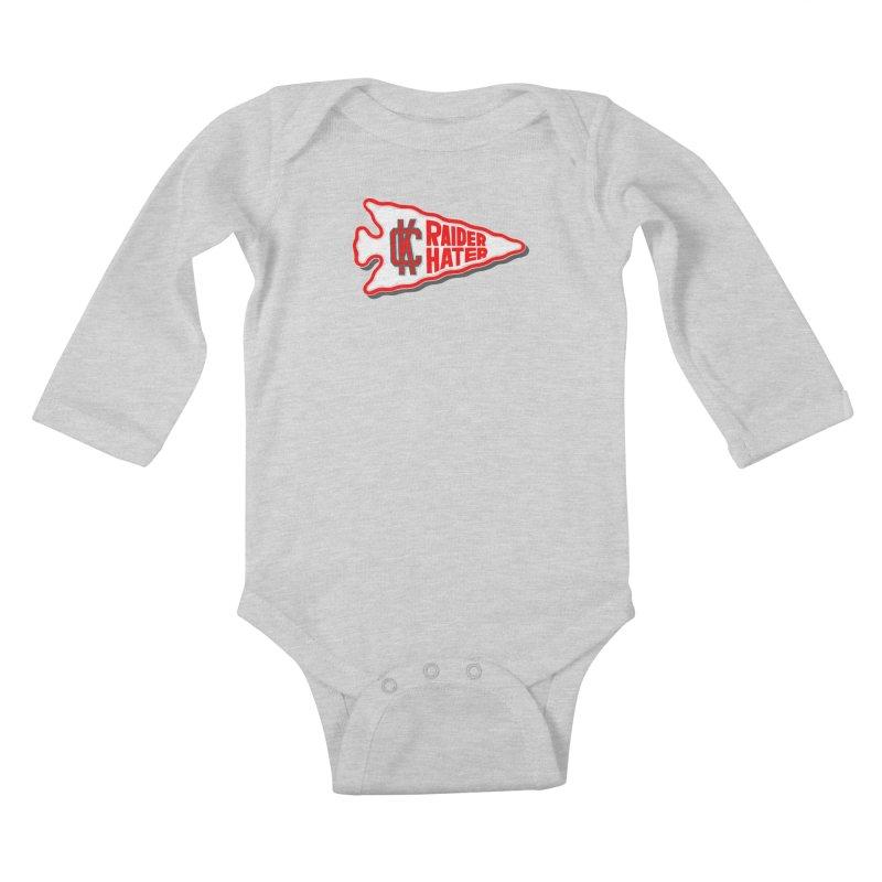 Raider Hater No. 1 Kids Baby Longsleeve Bodysuit by redleggerstudio's Shop