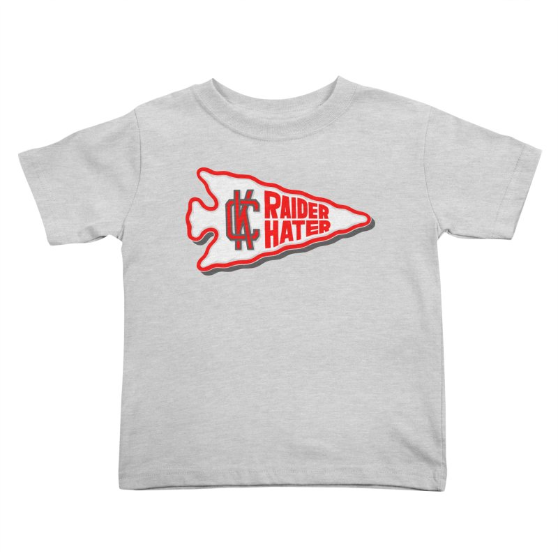 Raider Hater No. 1 Kids Toddler T-Shirt by redleggerstudio's Shop