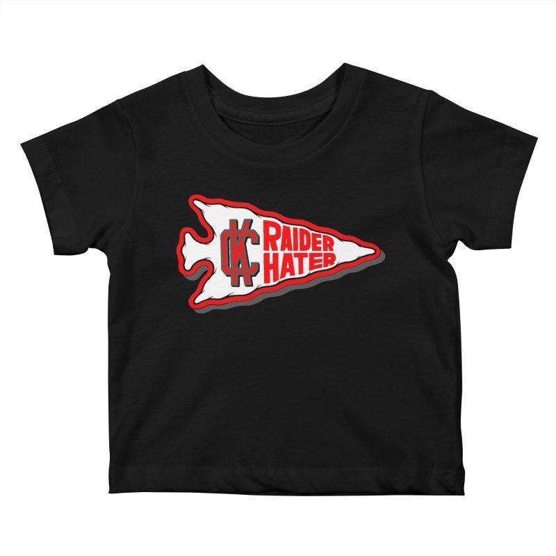 Raider Hater No. 1 Kids Baby T-Shirt by redleggerstudio's Shop