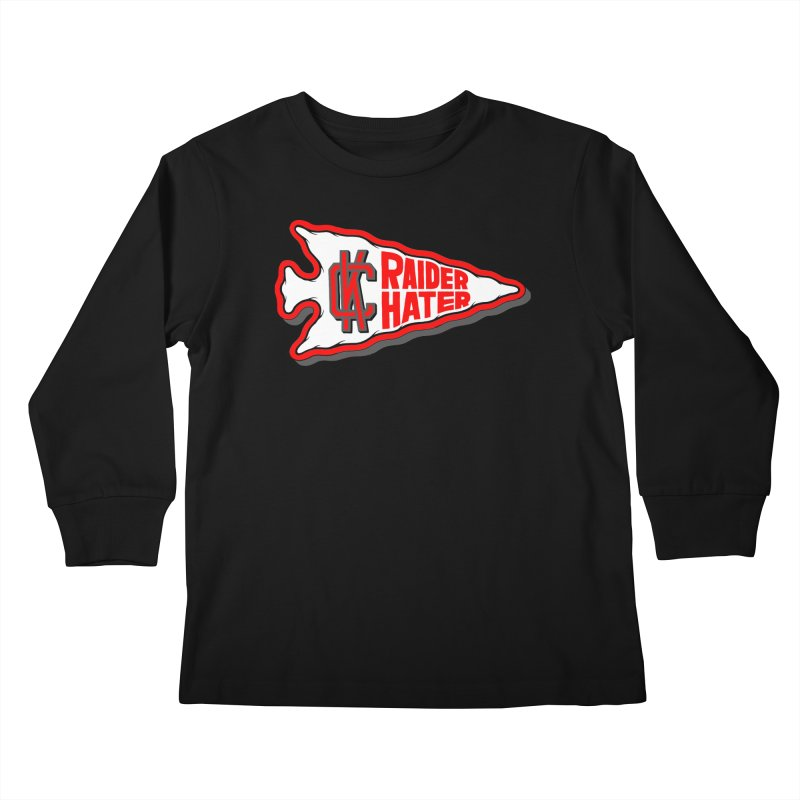 Raider Hater No. 1 Kids Longsleeve T-Shirt by redleggerstudio's Shop