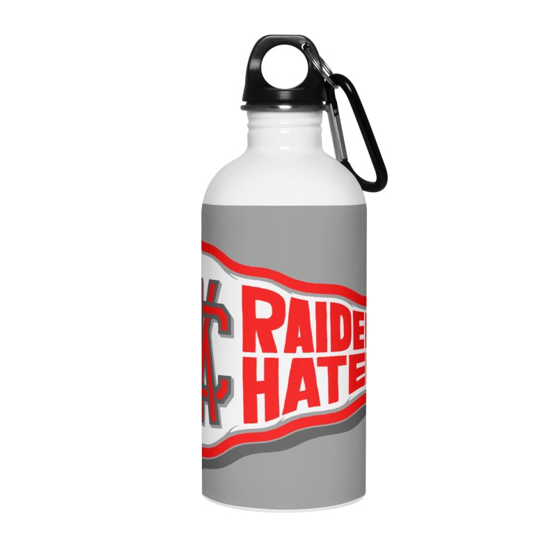 Raider Hater No. 1 Accessories Water Bottle by redleggerstudio's Shop