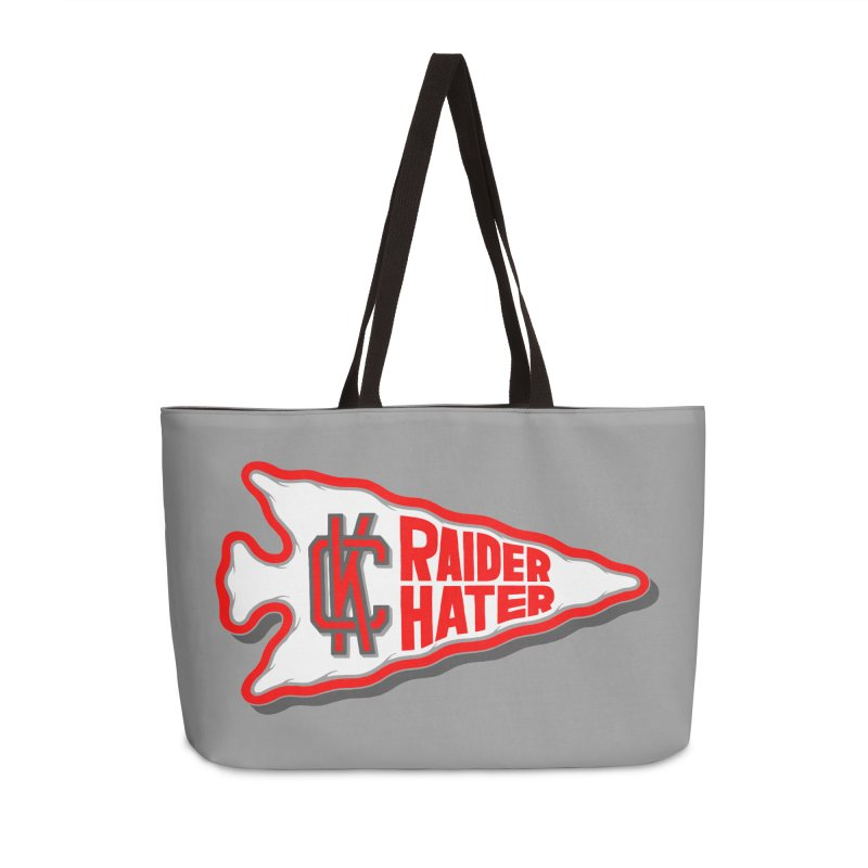 Raider Hater No. 1 Accessories Weekender Bag Bag by redleggerstudio's Shop