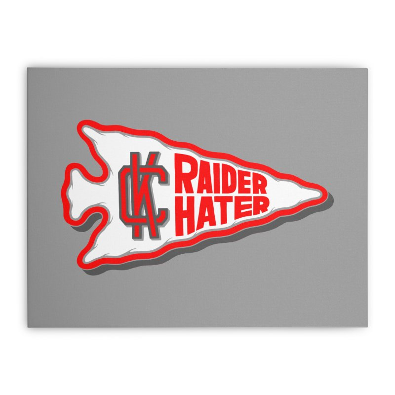 Raider Hater No. 1 Home Stretched Canvas by redleggerstudio's Shop