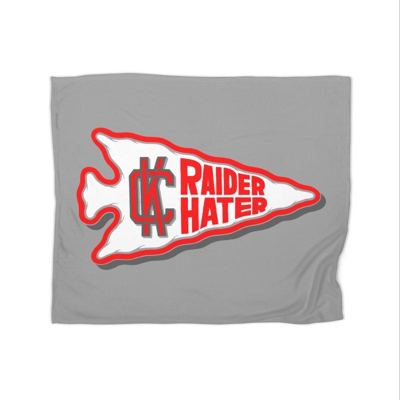 Raider Hater No. 1 Home Fleece Blanket Blanket by redleggerstudio's Shop