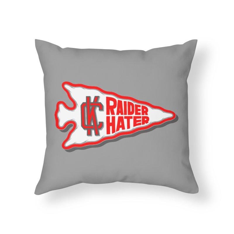 Raider Hater No. 1 Home Throw Pillow by redleggerstudio's Shop