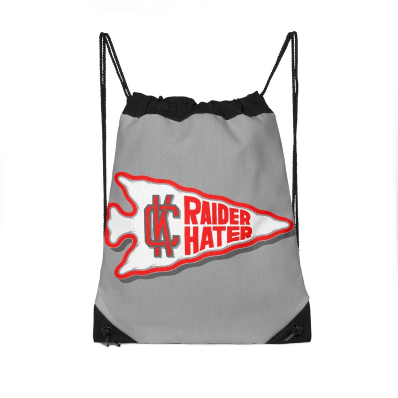 Raider Hater No. 1 Accessories Drawstring Bag Bag by redleggerstudio's Shop