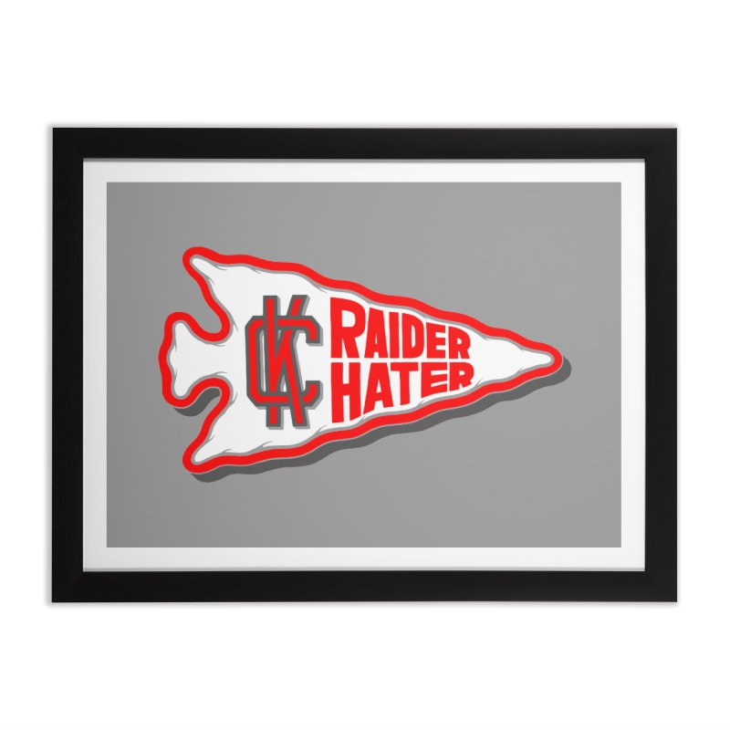 Raider Hater No. 1 Home Framed Fine Art Print by redleggerstudio's Shop
