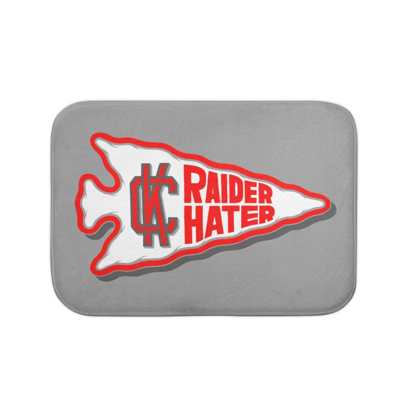 Raider Hater No. 1 Home Bath Mat by redleggerstudio's Shop
