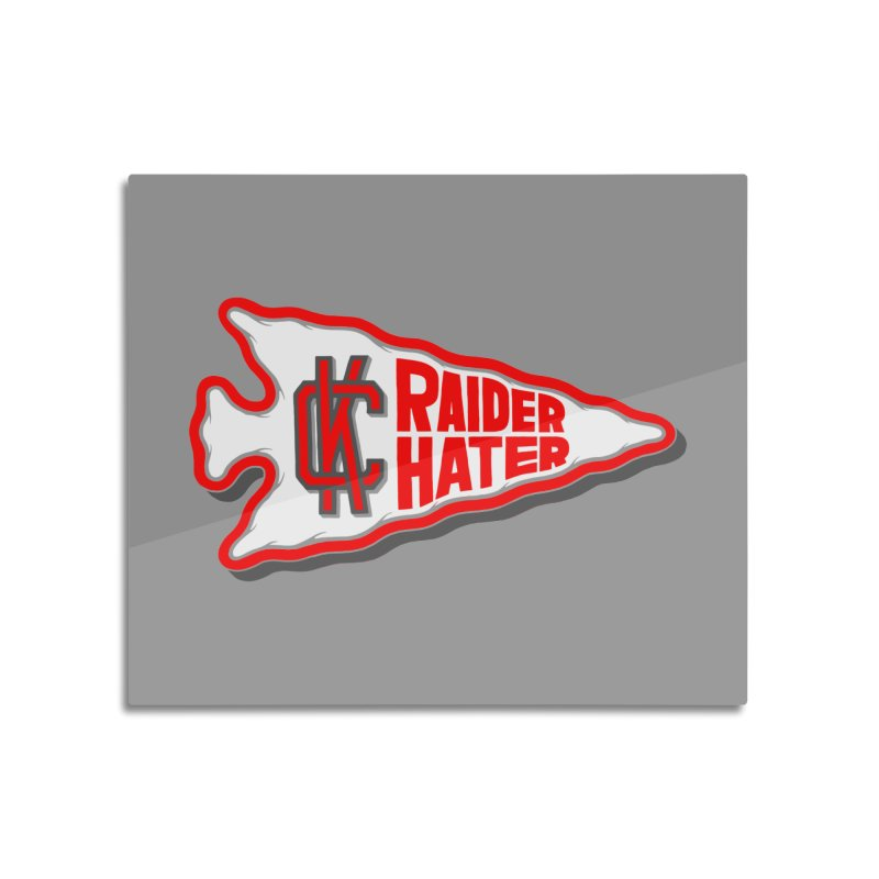 Raider Hater No. 1 Home Mounted Aluminum Print by redleggerstudio's Shop