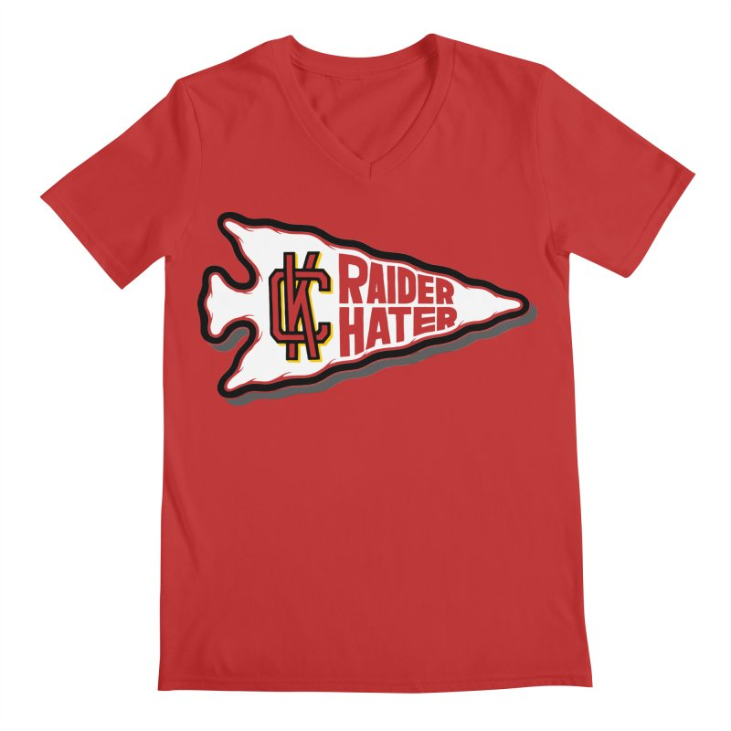 Raider Hater No. 2 Men's Regular V-Neck by redleggerstudio's Shop