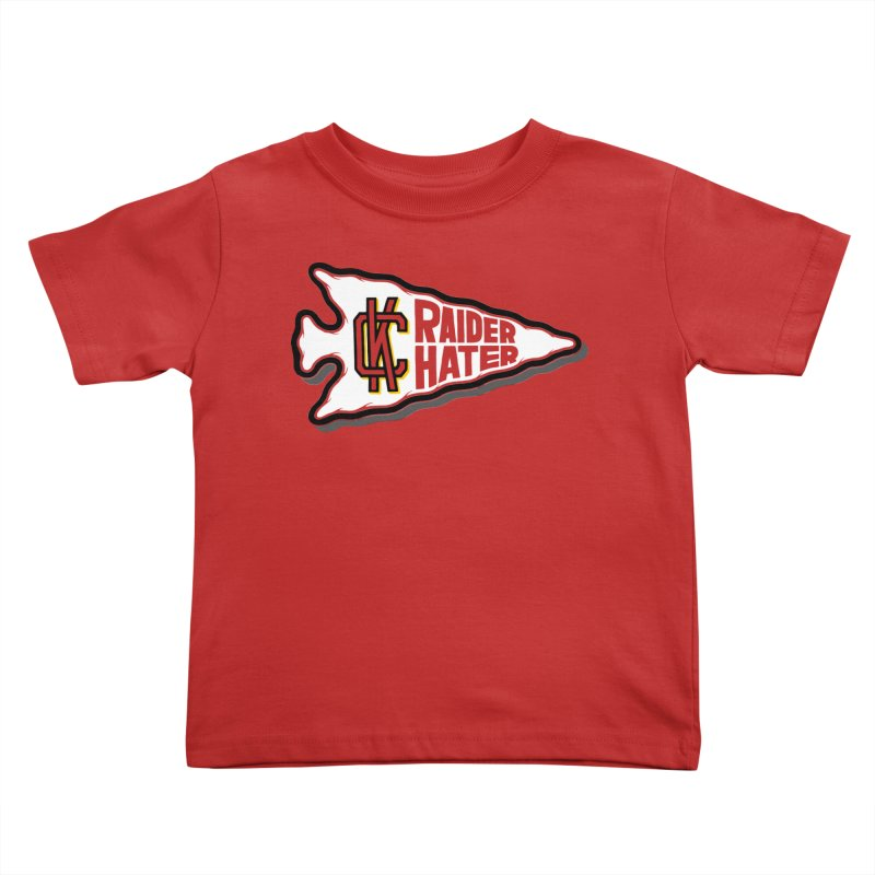 Raider Hater No. 2 Kids Toddler T-Shirt by redleggerstudio's Shop