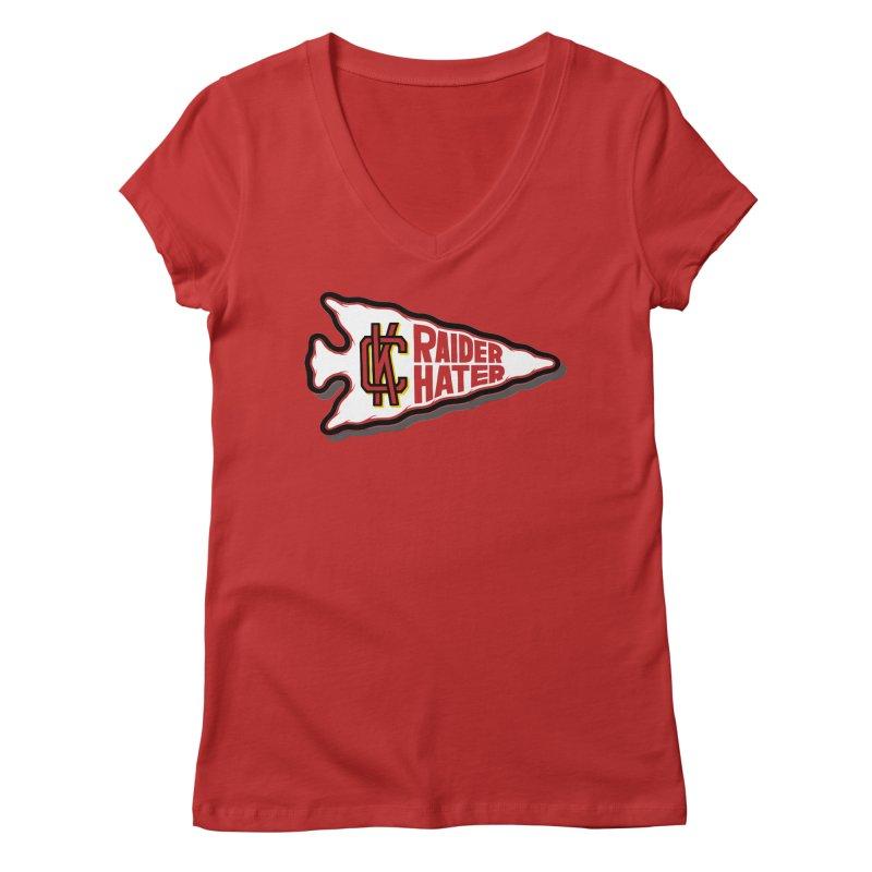 Raider Hater No. 2 Women's V-Neck by redleggerstudio's Shop
