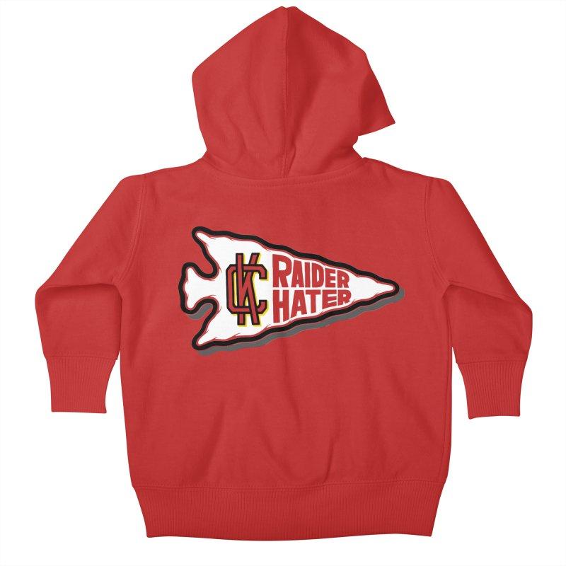 Raider Hater No. 2 Kids Baby Zip-Up Hoody by redleggerstudio's Shop