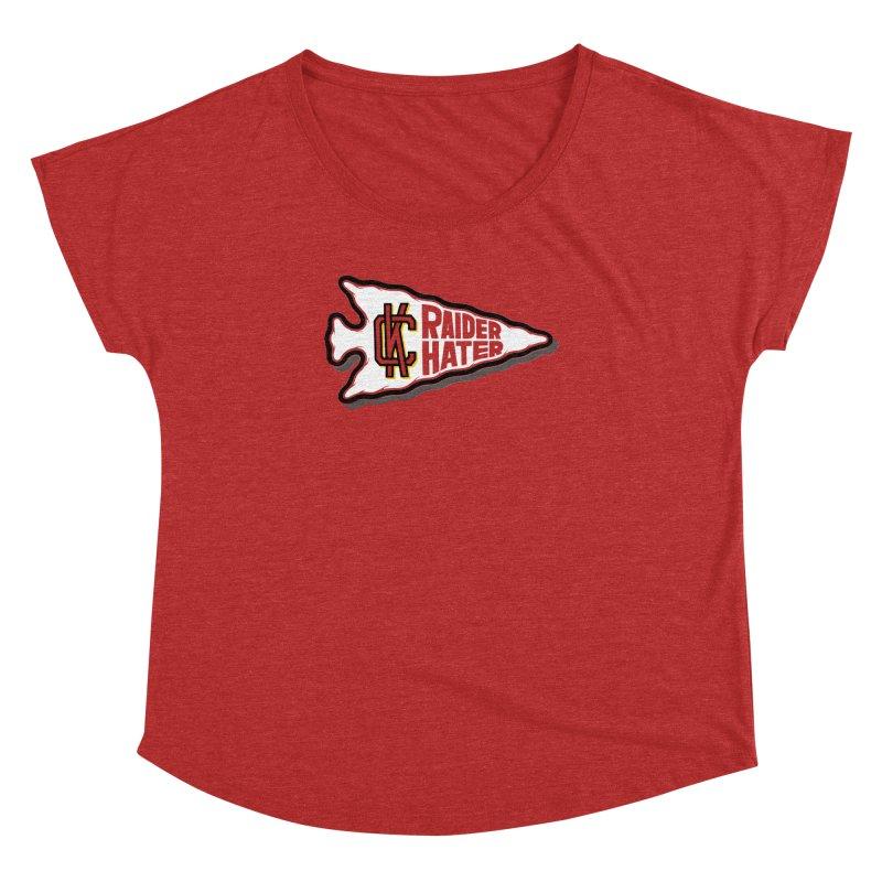 Raider Hater No. 2 Women's Dolman Scoop Neck by redleggerstudio's Shop