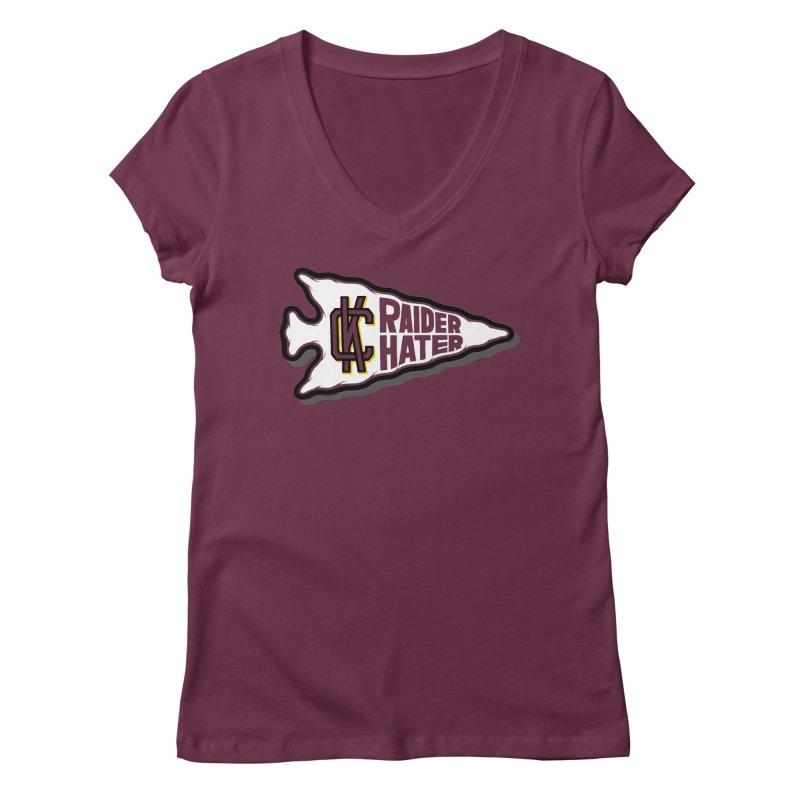 Raider Hater No. 2 Women's Regular V-Neck by redleggerstudio's Shop