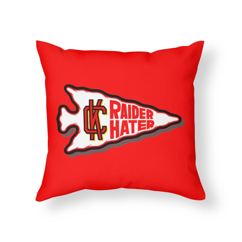 Raider Hater No. 2 Home Throw Pillow by redleggerstudio's Shop