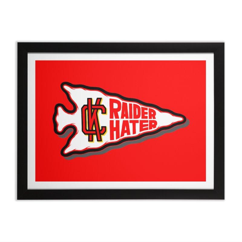 Raider Hater No. 2 Home Framed Fine Art Print by redleggerstudio's Shop