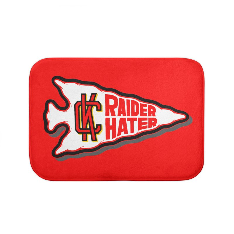Raider Hater No. 2 Home Bath Mat by redleggerstudio's Shop