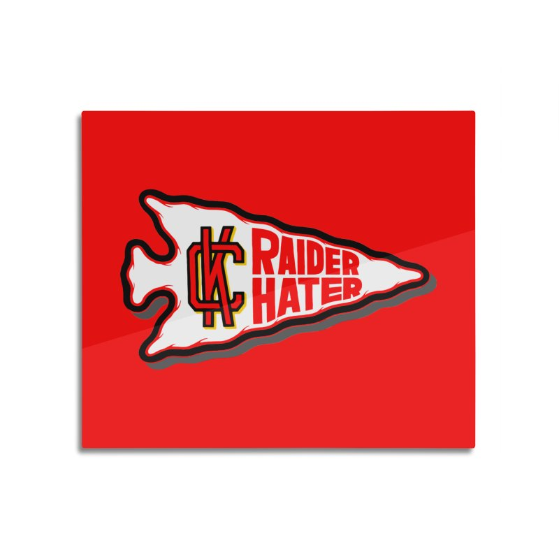 Raider Hater No. 2 Home Mounted Aluminum Print by redleggerstudio's Shop