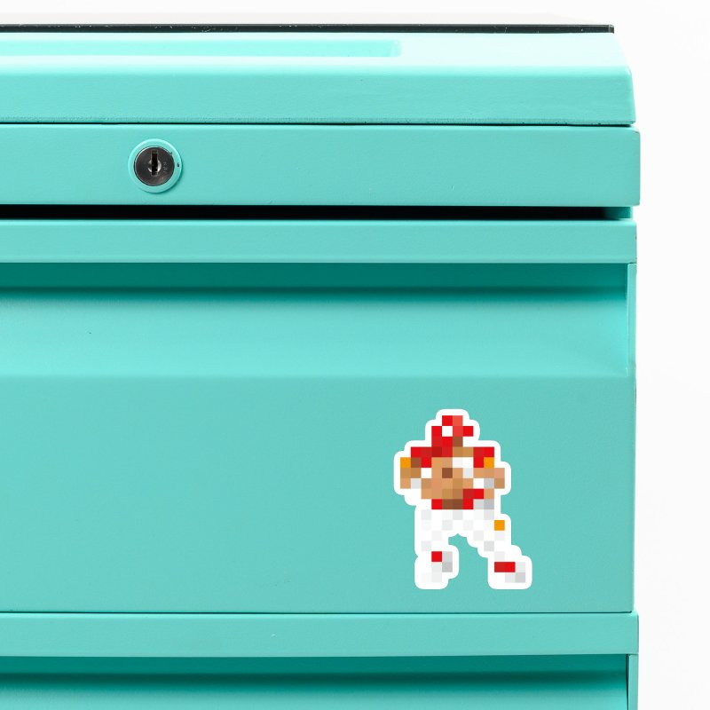 KC Pixel Player Accessories Magnet by redleggerstudio's Shop