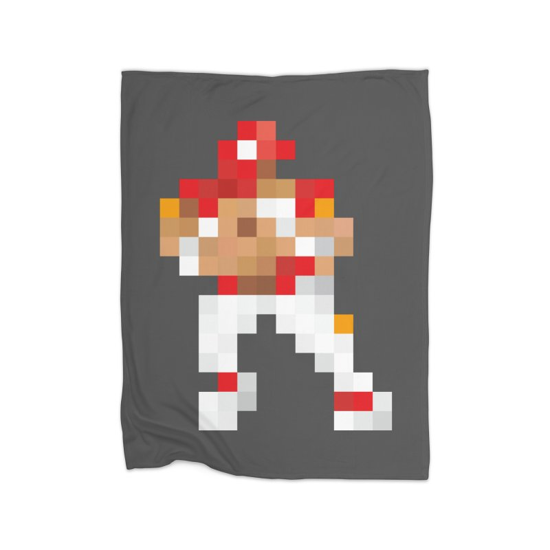 KC Pixel Player Home Fleece Blanket Blanket by redleggerstudio's Shop