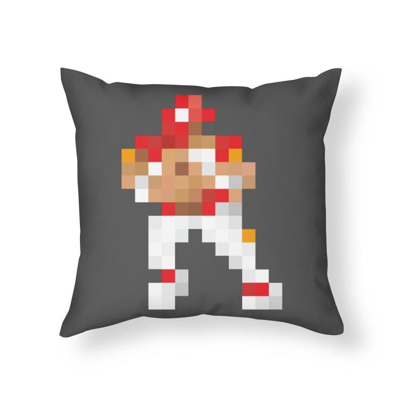 KC Pixel Player Home Throw Pillow by redleggerstudio's Shop