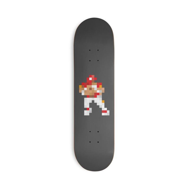 KC Pixel Player Accessories Skateboard by redleggerstudio's Shop