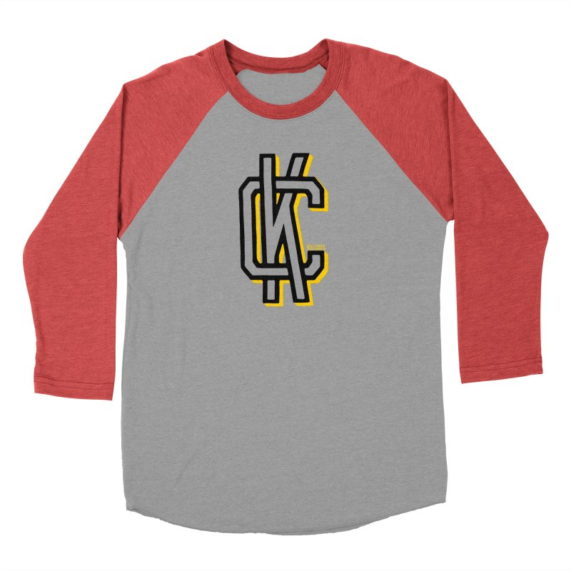KC Logo Men's Baseball Triblend Longsleeve T-Shirt by redleggerstudio's Shop