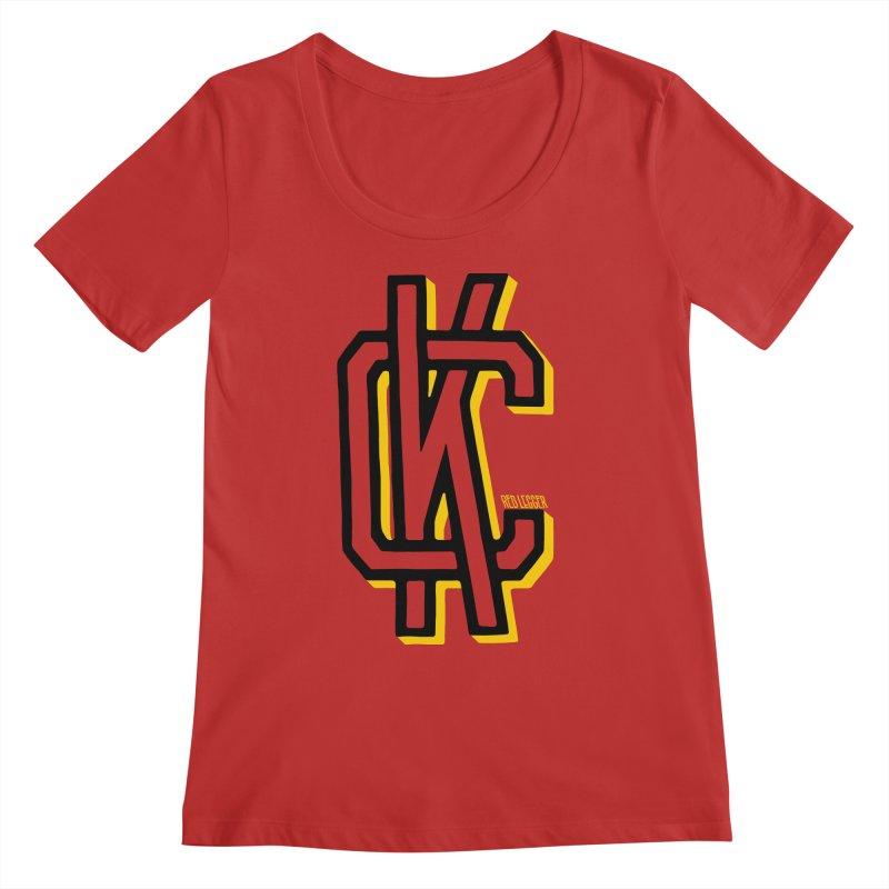 KC Logo Women's Regular Scoop Neck by redleggerstudio's Shop