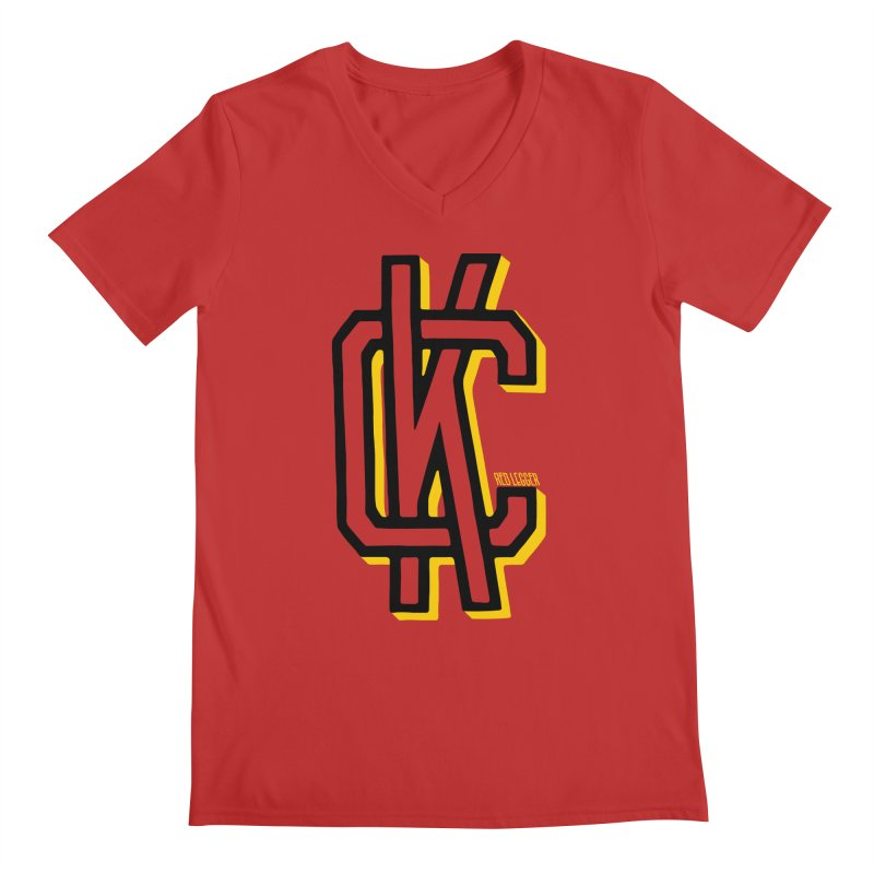 KC Logo Men's Regular V-Neck by redleggerstudio's Shop