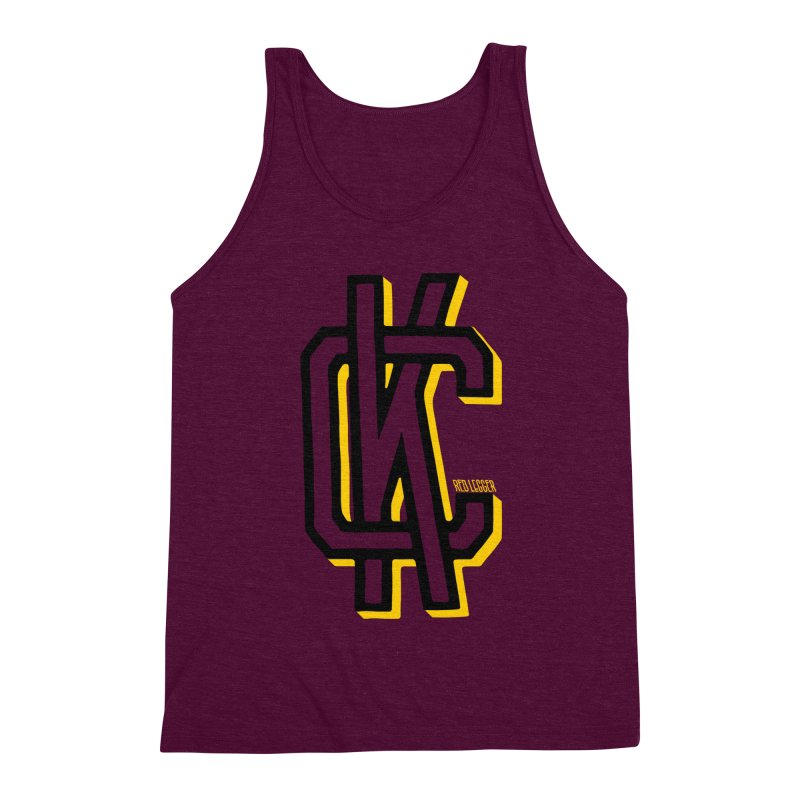 KC Logo Men's Triblend Tank by redleggerstudio's Shop