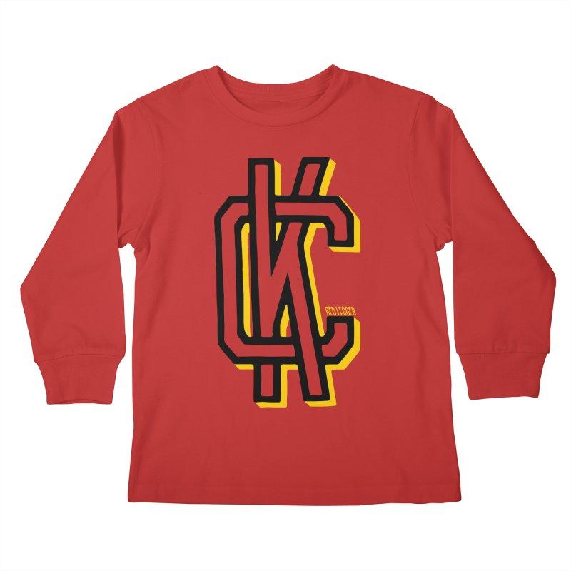 KC Logo Kids Longsleeve T-Shirt by redleggerstudio's Shop