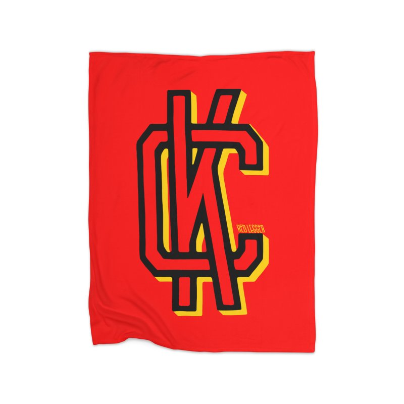 KC Logo Home Fleece Blanket Blanket by redleggerstudio's Shop