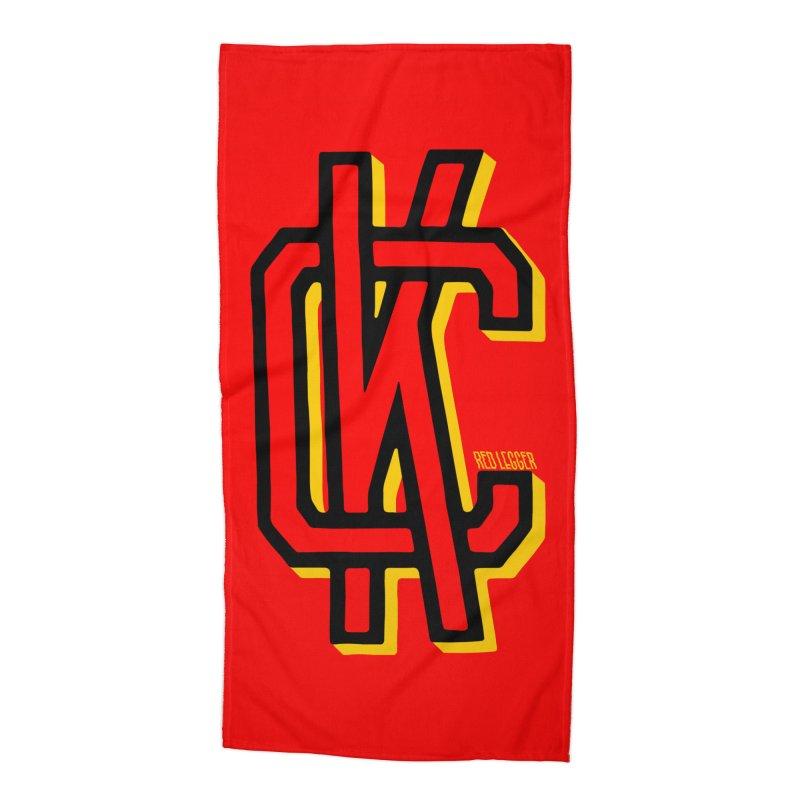 KC Logo Accessories Beach Towel by redleggerstudio's Shop