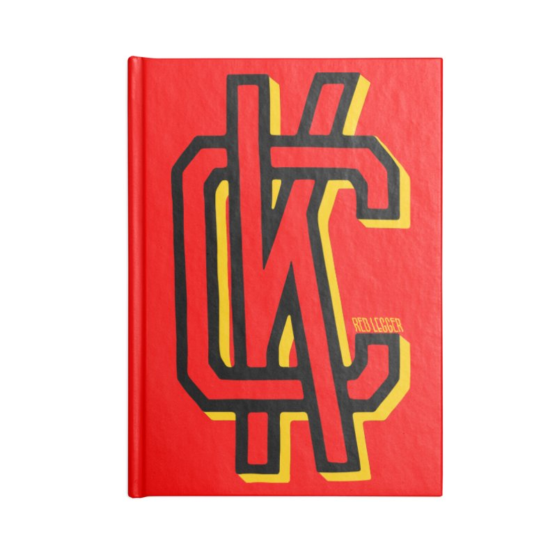 KC Logo Accessories Lined Journal Notebook by redleggerstudio's Shop