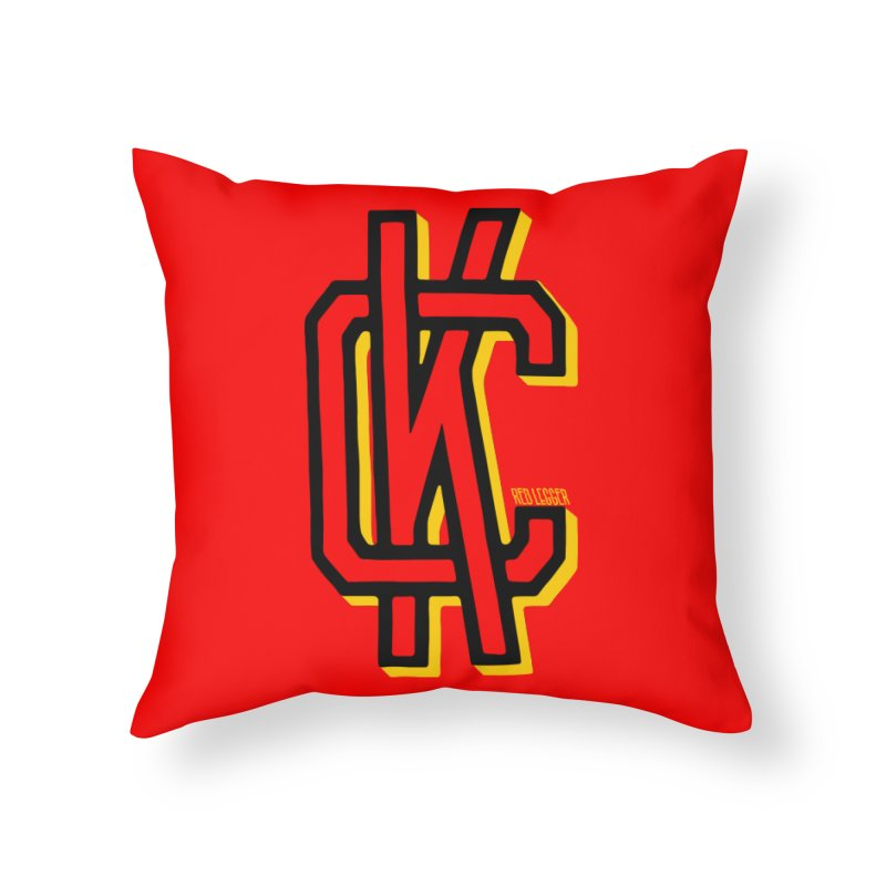 KC Logo Home Throw Pillow by redleggerstudio's Shop