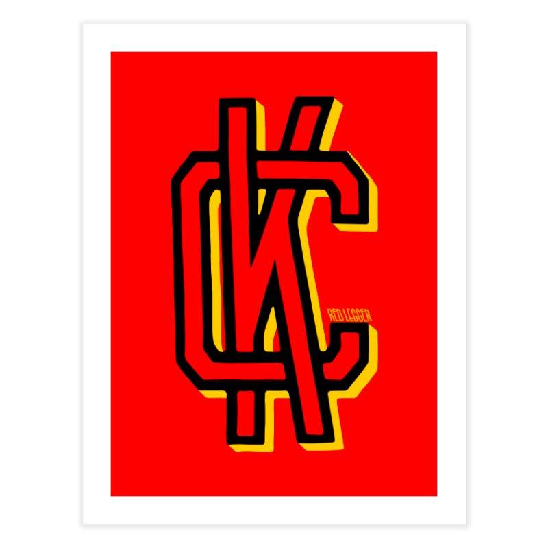 KC Logo Home Fine Art Print by redleggerstudio's Shop