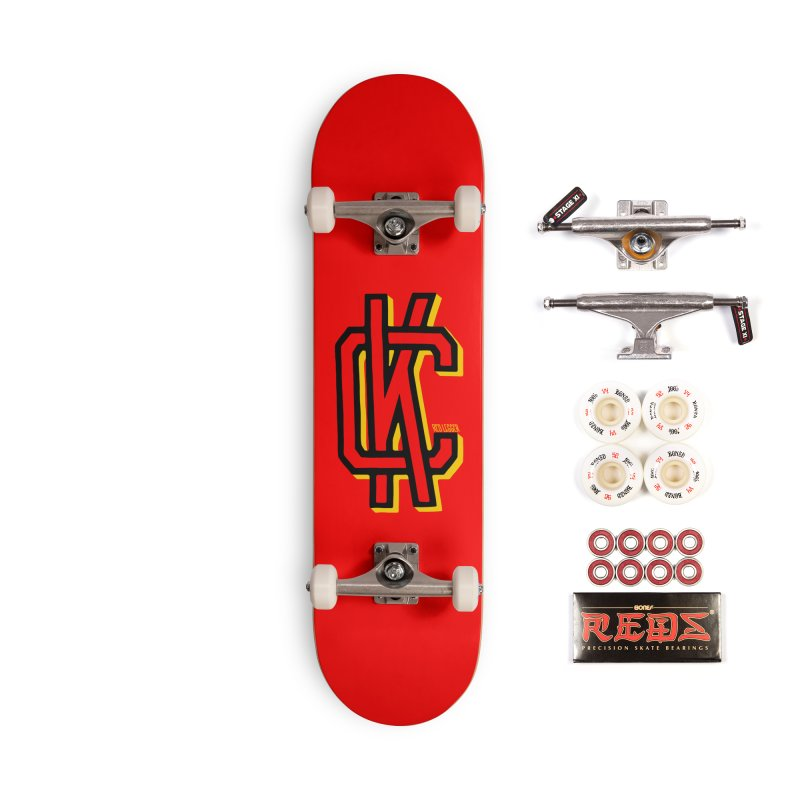 KC Logo Accessories Complete - Pro Skateboard by redleggerstudio's Shop