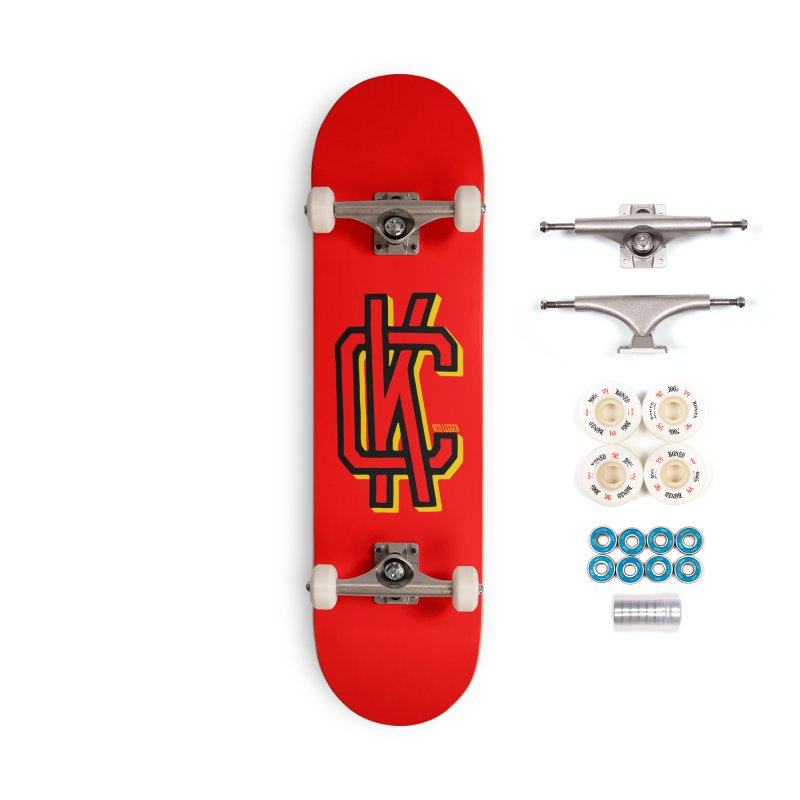 KC Logo Accessories Complete - Premium Skateboard by redleggerstudio's Shop