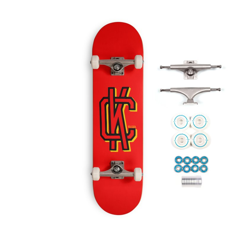 KC Logo Accessories Skateboard by redleggerstudio's Shop