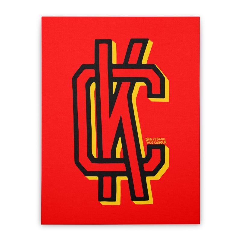 KC Logo Home Stretched Canvas by redleggerstudio's Shop